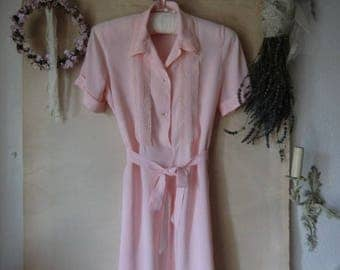 Vintage Nightgown nightdress Nightgown Pastel pink 50 s