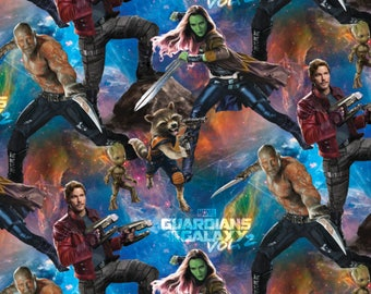 Packed Guardians of the Galaxy Cotton Woven, Guardians of the Galaxy Fabric, Superhero Fabric, Galaxy Fabric, Guardian of the Galaxy