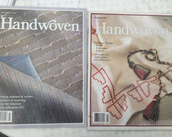HANDWOVEN Magazines Mar/Apr, May/June 1991