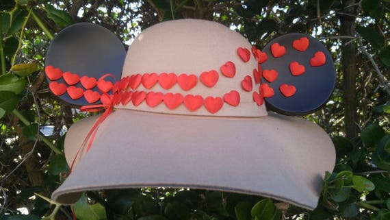 Mickey Mouse Valentines Day. Mickey Mouse Floppy Hat. Valentine's Original Disneyland Hat. Mickey Mouse Ears. Custom Disney Hat.