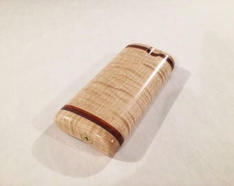 Short Double Flask Curly Maple Dugout