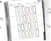 24 WORK Keyboard Third Box Stickers | S118 | Planner Stickers