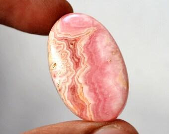 Natural Rhodochrosite 38.5 Cts Gemstone Loose Cabochon Pink Rhodochrosite Oval Shape 30x19x6 MM R14751