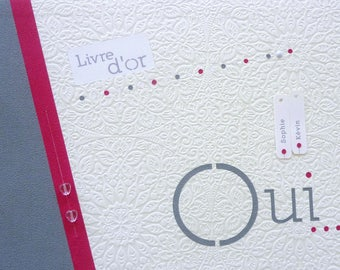 chic and simple custom guest book