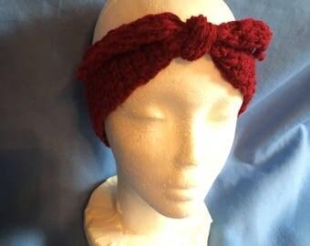 Crocheted Adjustable Headband