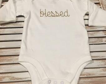Blessed Long Sleeved Onesie