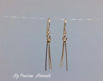 14k gold filled earrings. dangle earrings. Bridal earrings. Bridesmaid earrings.