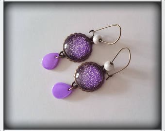 Earrings Pearl cabochons and magic pearls