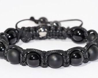 Agate gem stone bracelet
