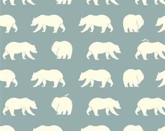Animal print Roman Blind | Bear print Roman Shade | Handmade roman shade | flat roman shade | custom roman shade | ice blue roman shade