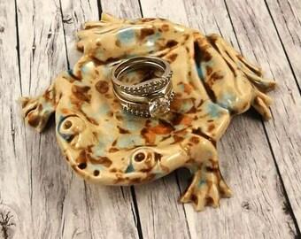 Ring Dish - Ring Tray - Jewelry Dish - Ring Holder - Ceramic Ring Dish - Housewarming Gift - Home Decor - Pottery Frog Ring Tray - Ceramics