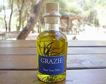 50 pcs Italian Style Olive Oil Favors (70ml/ 2.4oz), Olive Oil Wedding Favors, Olive Oil Baby Shower Favors, Olive Oil Bridal Shower Favors