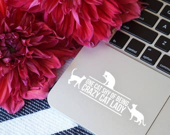 Crazy cat lady decal, Cat lover gift, Cat decal, Cat sticker, Car car decal, Cat laptop decal, Cat laptop sticker, Cat bumper sticker, Cat