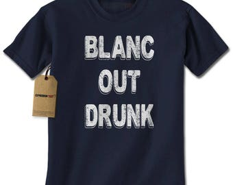 Blanc Out Drunk Sauvignon Mens T-shirt