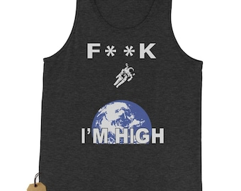 F**K I'm High Space Man Jersey Tank Top for Men