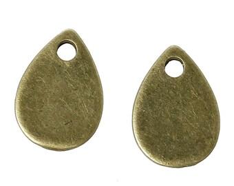 10 pendants sequins pendants drop 11 X 8 mm bronze