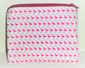 Flamingos Coin Purse, Flamingos Make Up Bag, Wildlife Coin Purse, Flamingo Bag, Flamingo Coin Purse, Rustic Purse, Gift for Flamingo lovers,