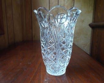 Imperial Crystal Vase; Vintage Flower Bouquet Vase