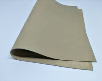 """Leather Scrap, Genuine Leather, Leather Pieces, Light Brown, Size 8.25"""" by 11.5""""  Leather Scrap for DIY Projects."""