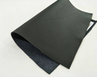 "Leather Scrap, Genuine Leather, Leather Pieces, Black, Size 8.25"" by 11.5""  Leather Scrap for DIY Projects."