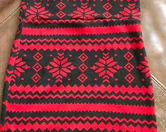 High waisted fitted holiday skirt