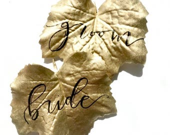 Private listing for Rebecca:Custom made leaf place cards (gold) 100ct