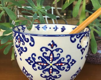 Beautiful HandPainted Asian Bowl with chopstic