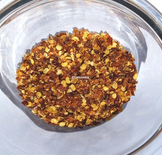 1 lb  Organic Smoked Chili Flakes. Chili pequin  no sulfites