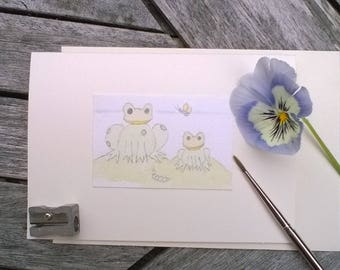 Greeting Cards Handmade Frogs Amphibians