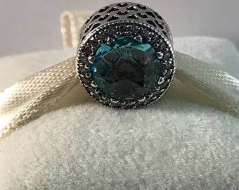 New Pandora Radiant Glacier Blue Hearts