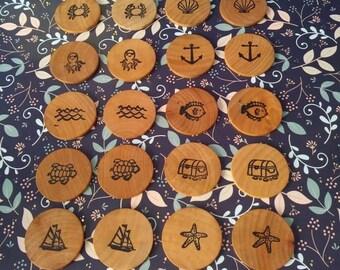 Ocean Inspired, Matching game set, make a match, game, waldorf, Montesori, matching game,reggio emilia