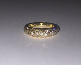 0.70ct Diamond 6mm Band in 18K Yellow Gold