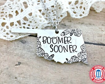 University Of Oklahoma | OU | Boomer Sooner | OU Sooners | Oklahoma Sooners | Oklahoma Jewelry | College Jewelry | College Necklace