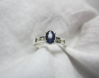 blue sapphire and diamond ring, blue sapphire ring, diamond ring,WOOW