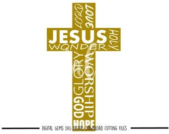Holy Cross svg / dxf / eps / png files. Digital download. Compatible with Cricut and Silhouette machines. Small commercial use ok.