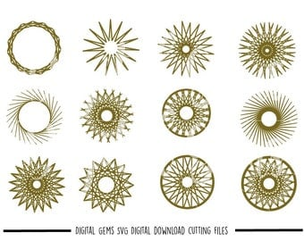 Mandala / Patterns svg / dxf / eps / png files. Digital download. Compatible with Cricut and Silhouette machines. Small commercial use ok.