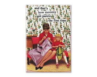 Funny Fridge Magnet, Feminist Magnet, Refrigerator Magnet, Fridge Magnet, Kitchen Decor, vintage humor