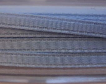 Satin ribbon double sided 3 mm, blue