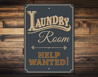 Laundry Room Help Wanted Sign Help Wanted Laundry  Etsy