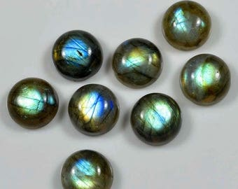 50% SALE AAA Labradorite Cabochon 85 Ct../ 12 mm/ Lot-15 Pc. Round - AAA Quality Multi Power 100 Percent Natural Loose Gemstone Flashy Labra