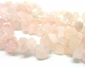 100 chips P012.5 rose quartz beads
