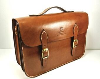 Leather Messenger Bag, Messenger Bag, Leather Satchel, Italian Leather Messenger Bag, Handmade Briefcase, Leather Briefcase