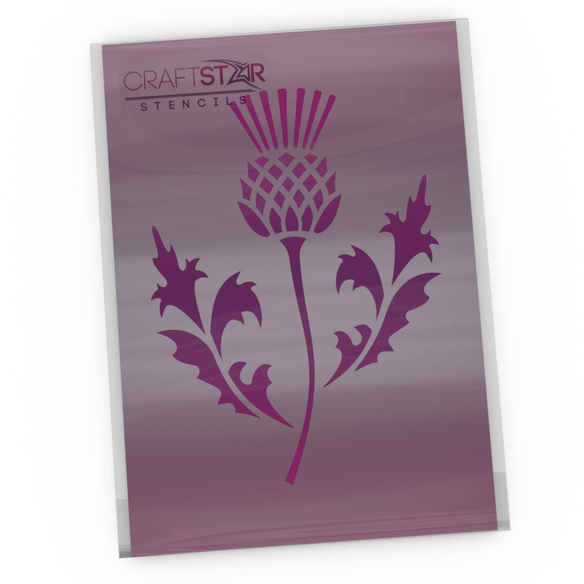 craftstar scottish thistle stencil national emblem of