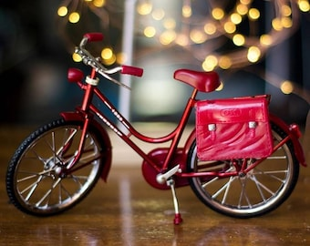 1:6 Realistic Play Scale Bicycle with Pedals that Work for YoSD BJD, Blythe Dolls, Barbie, Monster High - FREE SHIPPING