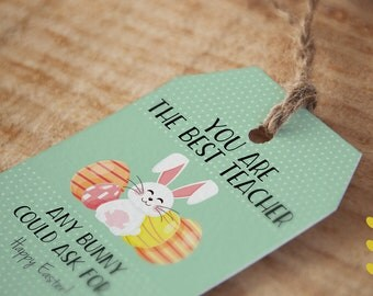 You are the best Teacher/Friend any Bunny can ask for - Easter Tag
