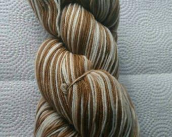 Stockin' Stitches Hand Dyed Sock Yarn- Cafe Au Latte
