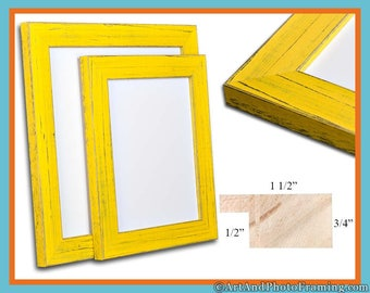 16x20 Picture Frame 16x20 Yellow Picture Frame 20x16 Rustic Picture Frame 16 x 20 Picture Frame 16 x 20 Photo Frame 16x20 Custom Frame Gift