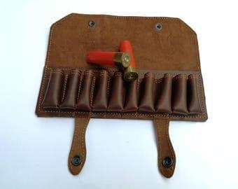 Hunting gifts for men, gifts for men, Hunting gift,Leather Bandolier, custom, genuine leather, bandolier belt, 10 hunting cartridges