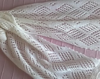 cashmere scarf / cream scarf / lace scarf / white lace scarf / cream lace scarf / cashmere lace scarf