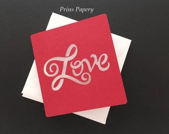 Red Love Mini Note Cards with Envelopes  6